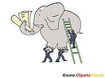 Ziele in Arbeit erreichen Clipart, Grafik, Bild