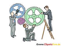 Zusammenarbeit, Kooperation Clipart, Grafik, Bild