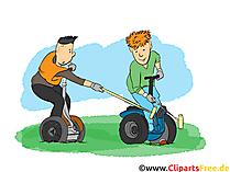 Elektrikli Scooter Clipart, resim, çizgi film, çizgi roman, illüstrasyon