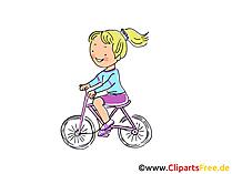 Fahrrad fahren Bild, Sport Cliparts, Comic, Cartoon, Image gratis