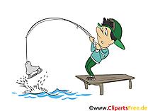 Hobbyangler Clipart, Bild, Illustration