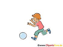 Çocuk topla oynar Clipart, resim, çizgi film, komik, grafik