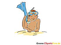 Schnorchel - Tauchen und Schnorcheln Clipart, Bild, Cartoon