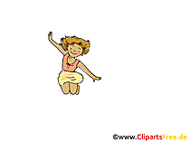 Springen, fliegen Clipart, Bild, Cartoon, Comic, Grafik