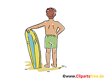 Surfer, Surfen Clipart, Bild, Cartoon, Comic, Grafik