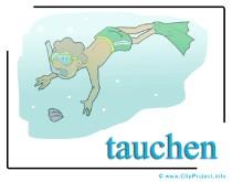 Taucher Clipart free