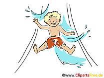 Su Kaydırağı Clipart, Resim, Çizgi Film, Komik, Grafik