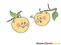 Äpfel lustige Cartoons