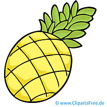 Ananas Bild Clipart kostenlos