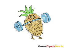 Ananas Clipart, Bild, Cartoon gratis