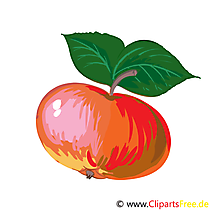 Apfel Cartoon, Bild, Illustration, Clip Art