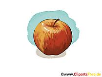 Apple rode illustratie, afbeelding, gratis clipart