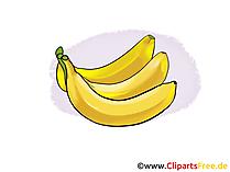 Bananen Illustration, Bild, Clipart kostenlos