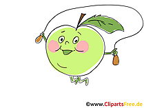 Cartoon Apfel