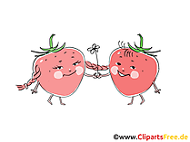 Aardbeien tekenfilms