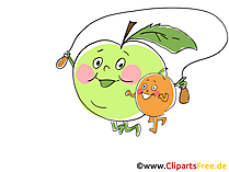 Freen Cliparts Vitamine und Früchte