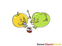 Früchte Clipart, Bild, Cartoon gratis