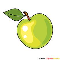 Groene appel afbeelding, clipart, afbeelding