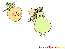 Kostenlose Cliparts Früchte