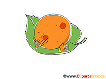 Lustige Orange Clipart, Bild, Cartoon gratis