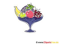 Vase mit Früchten, Obst Clipart