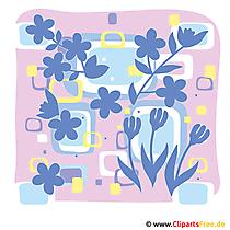 Fruehling Cliparts kostenlos -  Blumen und Pflanzen