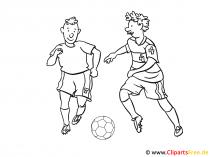 Bilder zum Ausdrucken zum Thema Fussball