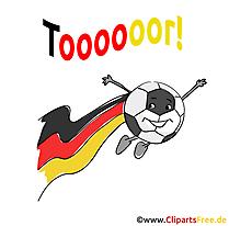 Cartoon-Logo Fussball Bild, Clipart