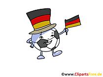 Cartoon-Maskottchen Fussball