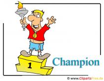 Champion Cartoon-Clipart Olympiade