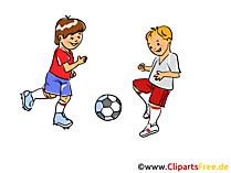 Clipart Fussball spielen