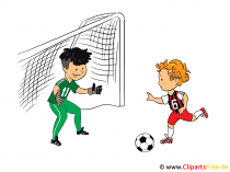 Clipart voetbalgoal