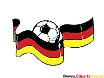 Deutsche Fahne und Fussball - Clipart zu Meisterschaft