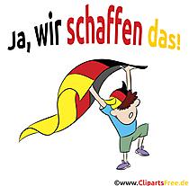 Die deutsche Fahne Fussball-Clipart