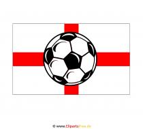 Engelse vlag met voetbal illustraties