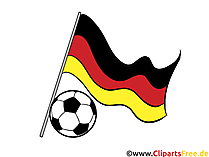 Football Clip Art - Germany flag