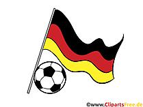 Football Clip Art - Germany flag