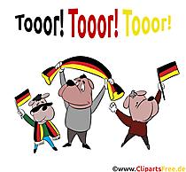 Football European Championship Clip Art-Image - German football fans