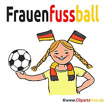 Frauenfussball Bild-Clipart