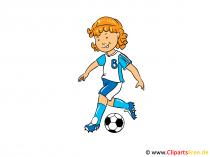 Frauenfussball Bild, Clipart, Illustration, Cartoon