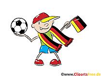 Fußball-Europameisterschaft Clipart-Bild Deutschland-Fan