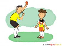 Fussball Cartoon Bild, Illustration, Clip Art