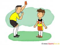 Fussball Cartoon Bild, Illustration, Clip Art