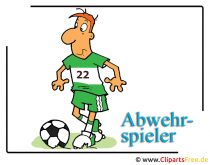 Fussball Cliparts free - Abwehrspieler
