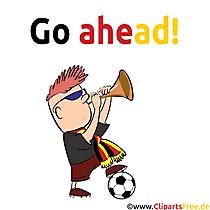 Fussball Comic-Bild gratis