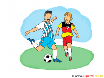 Fussball Grafik, Cartoon, Clipart, Bild