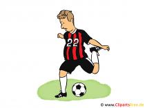 Fussball Illustration, Cartoon, Bild, Clipart