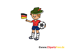 Fussball Illustration im Cartoonstil
