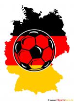 Fussball im Hintergrund Deutschlandkarte Clipart
