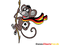 Soccer in the Zoo Clipart Obraz